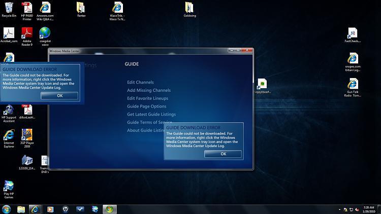 Media Center update log - Windows 7 Help Forums