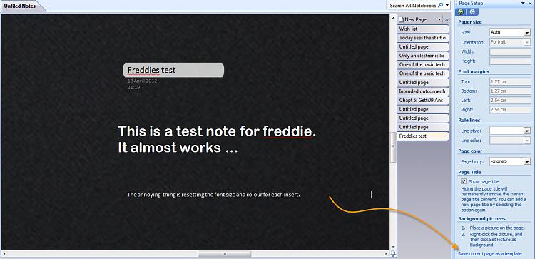 OneNote] Black Background - Windows 7 Help Forums