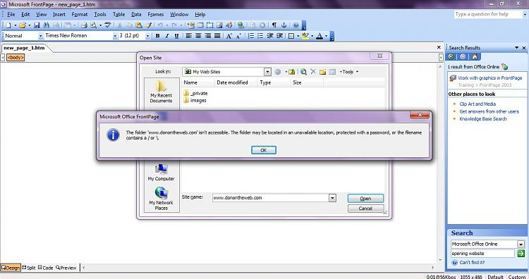 Cannot open website in Frontpage 2003 or SharePoint Designer-image1.jpg