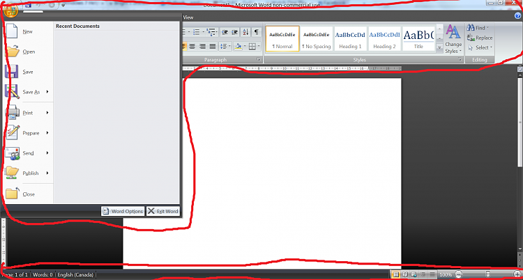 Microsoft Office 2007 ribbon too big Solved - Windows 7 Help