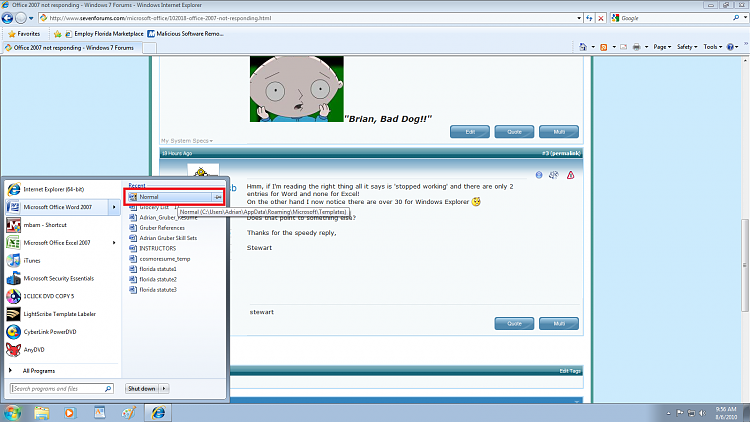 Office 2007 not responding-app.png