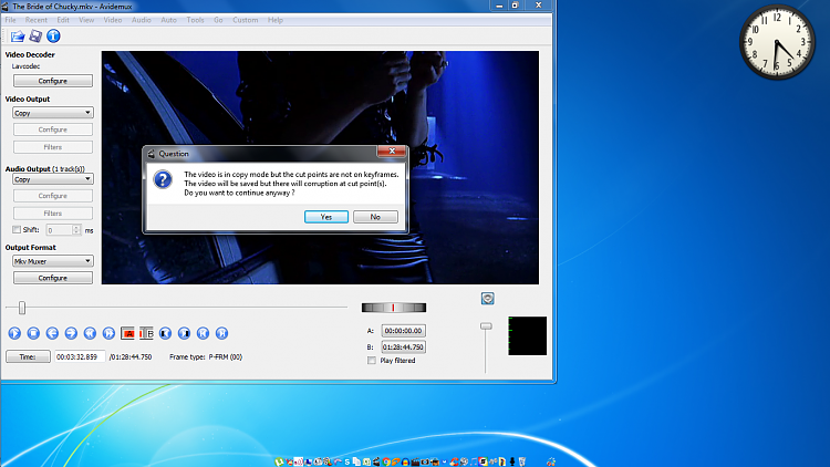 Can't DELETE Videos properly using Avidemux ....-avedimux-error.png