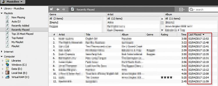 Finding Windows 7 .mp3 logs-musicbee.jpg