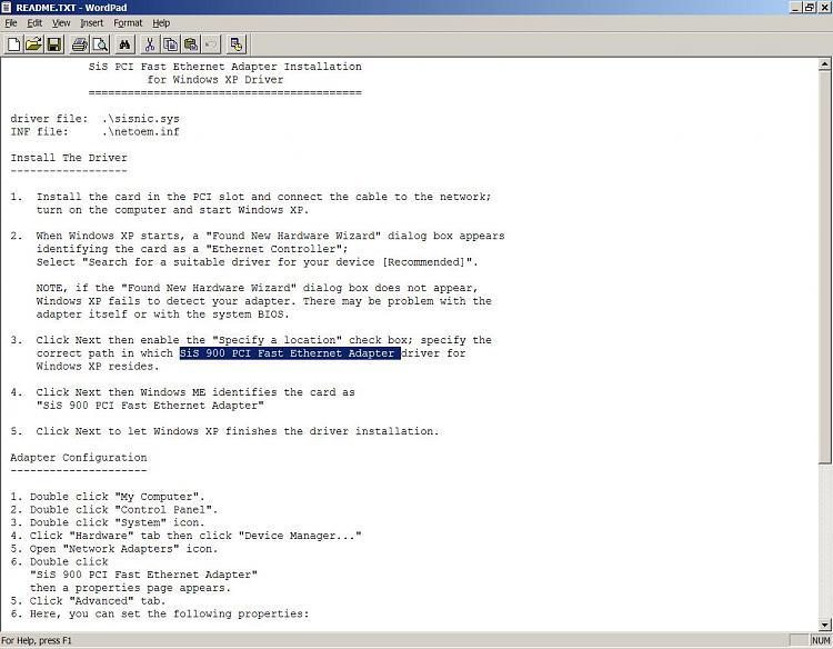 Network adapter driver problem-sis-driver-xp-readme.jpg