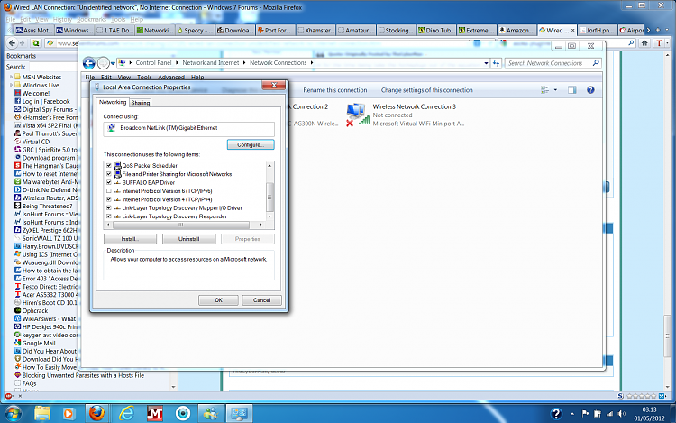 Windows 10: Unidentified network - No Internet access