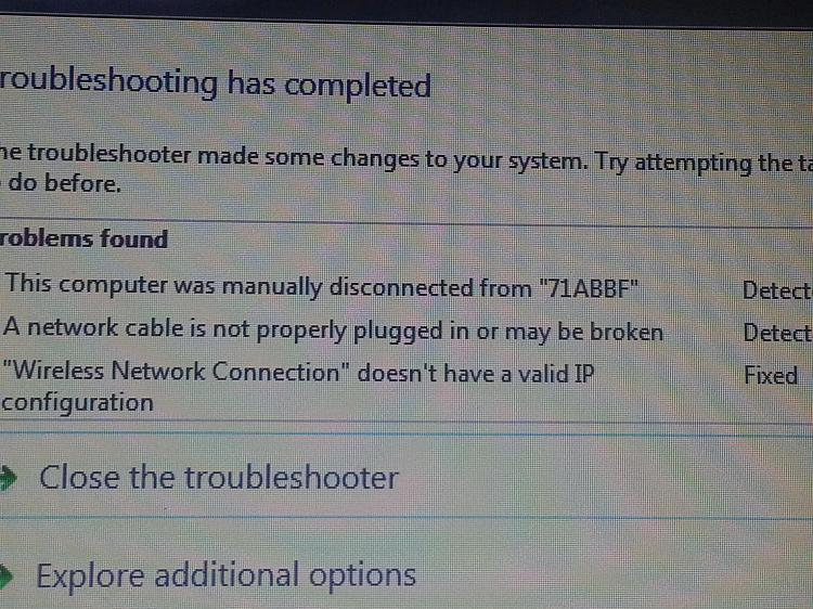 Laptop having connectivity issues - says invlaid IP address-20130106_214515.jpg