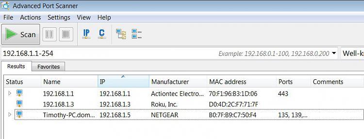 address conflict for IP address 192.168.1.3-advancedport-scanner.jpg