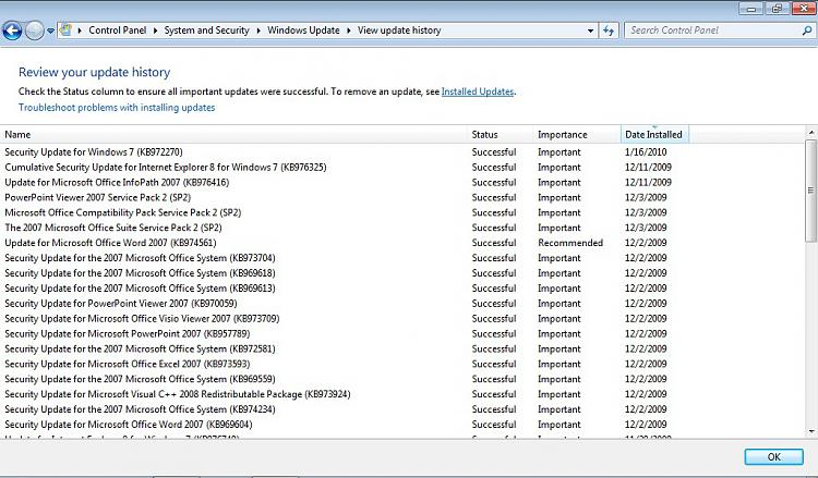 Unidentified network, No Internet access-update-history.jpg