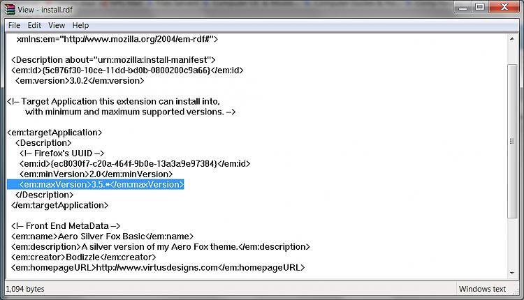 Firefox 3.5 Will Arrive June 30-edit-install.rdf-higher-version-3.5.jpg