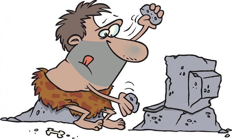 New M-Disc Technology Promises Permanent Data Retention-cave-man-rock-computer.jpg