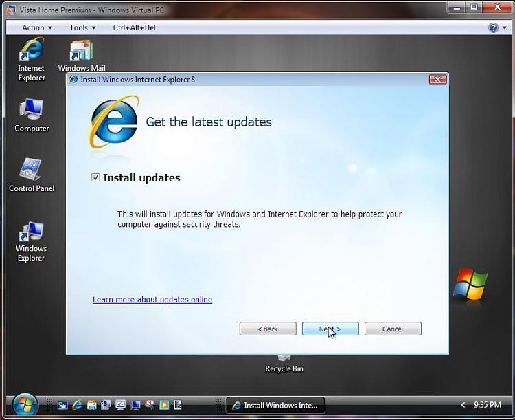 Run Windows in your browser-vista-ie-8-install-vpc3-latest-updates.jpg