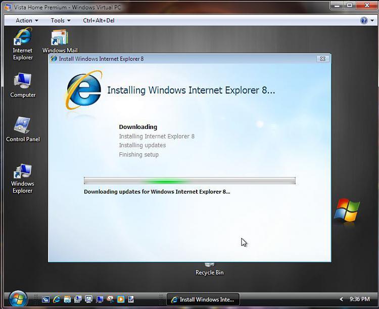 Run Windows in your browser-vista-ie-8-install-vpc4-download-updates.jpg