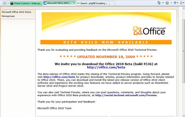 Office 2010 Beta Public Download Site URL is Live-office2010.jpg