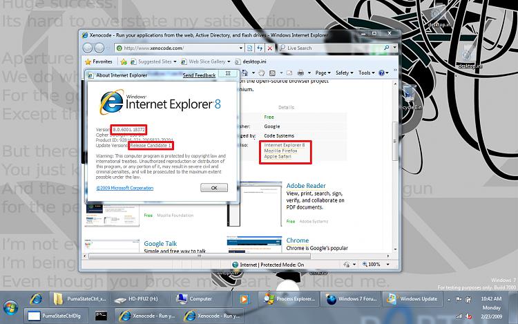 Xenocode Online Browser Sandbox Lets Users Run Internet Explorer 8-ie8rc1.png