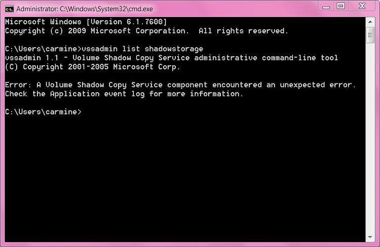 SFC/scannow  &   vssadmin list shadowstorage-capture.jpg