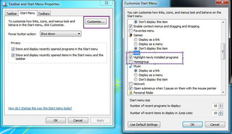 New applications not highlighted in start menu-capture.jpg