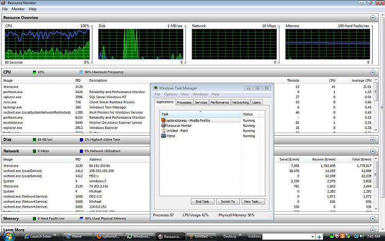 high cpu usage with streaming data program - Windows 7 Help