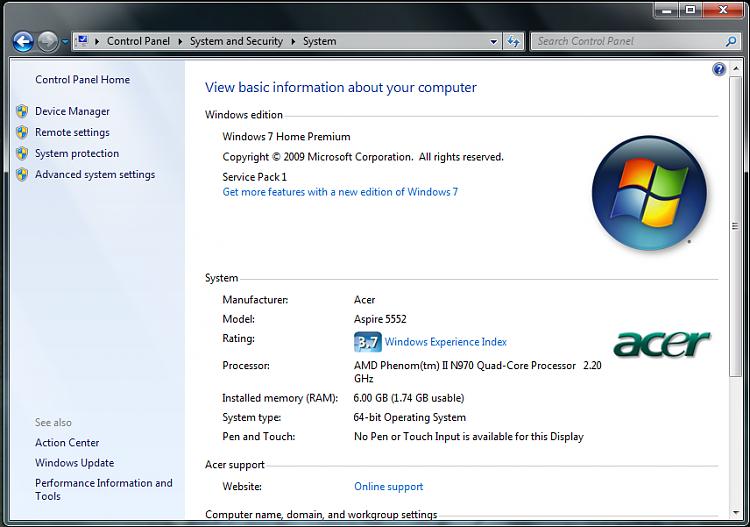 how to fix usable ram windows 7 64 bit