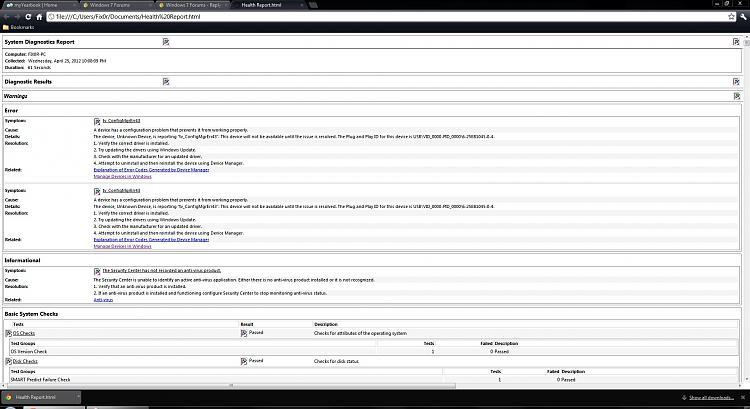 Windows 7 64bit, event viewer numerous critical errors.-health-report.jpg