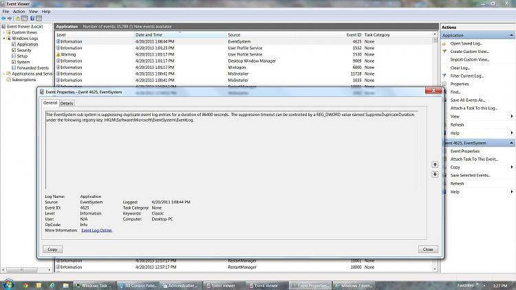 Windows 7 Constant Hard Drive Activity - Computer Slow to Respond-event-log_eventsystem.jpg