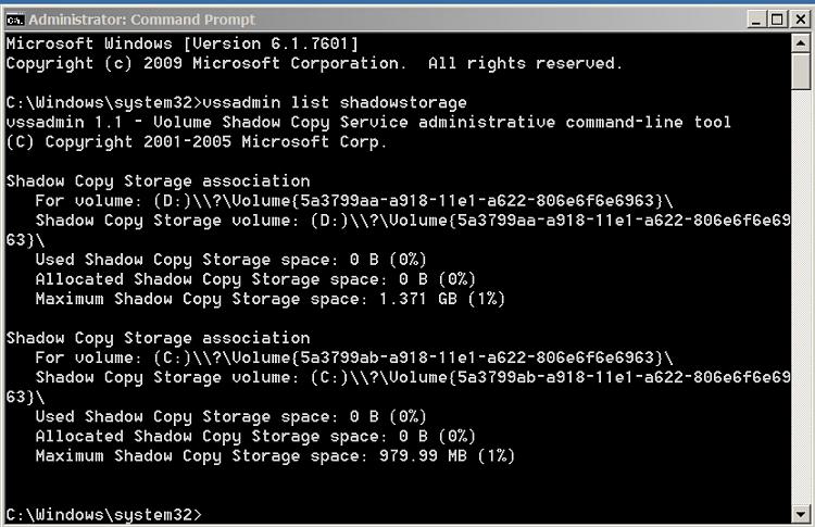 Missing HD space on laptop-04-vssadmin.png