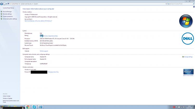 Very High RAM usage very low CPU usage, fix?-windows_genuine.png