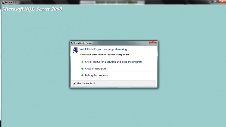 SQL Server 2000 Installation Error In Windows 7 Untitled