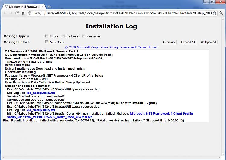 Microsoft .Net Framework 4 Fatal Error During Installation 0x80070643-install-failure.png