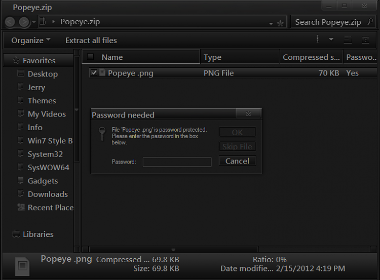 Securing a zip file-region.png