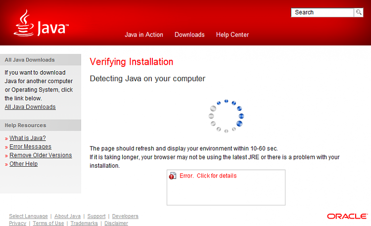 Java 7 Update 4 will not verify after installation-java_7_update_4_error_on_verification.png