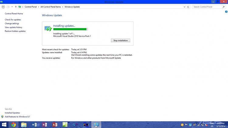 Microsoft Visual Studio 2010 SP1 Problems installing-before-failing-update.jpg