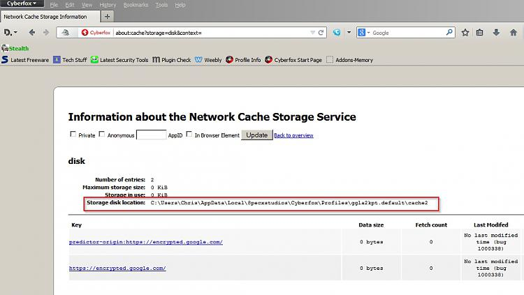 Latest CCleaner Version Released-network-cache-storage-information-cyberfox.jpg