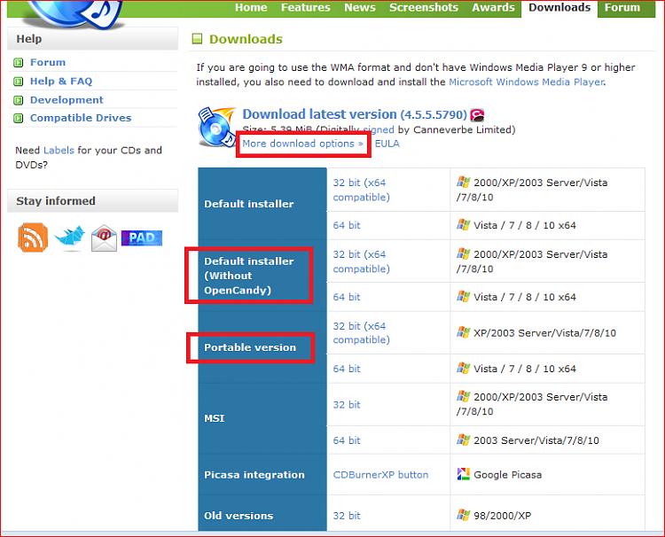 FREE Great Programs for Windows 7 [2]-cdburnerxp_02.png