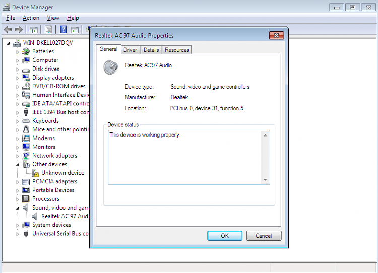 intel 82801 DB/DBM AC'97 audio controler problem-1.png