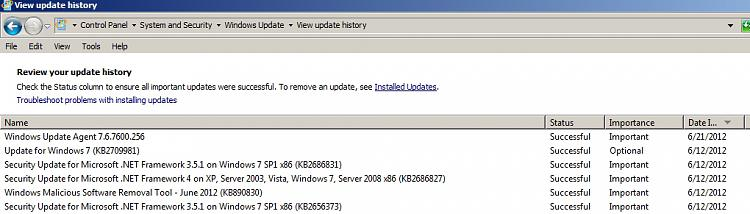 Unfamiliar with Windows Update Agent Solved - Windows 7 Help