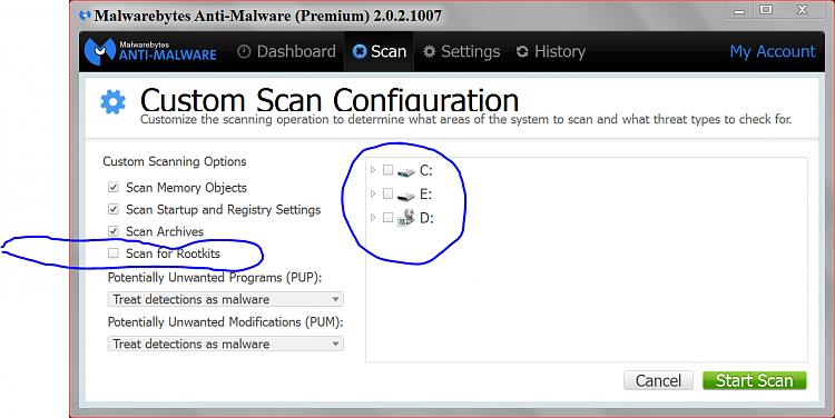 "Virus ""Please update your internet explorer"" even after formatting-malwarebytes-custom-scan.png"