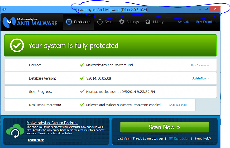 Malwarebytes Anti-Malware 2.0.3 Beta Test-malwarebytes.png