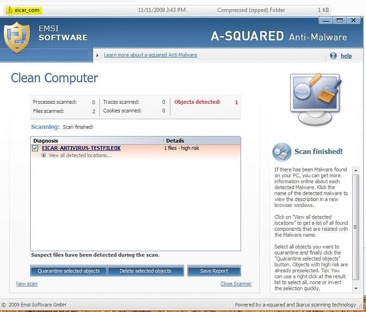 Test your anti-malware/anti-virus protection with EICAR-capturefc.jpg