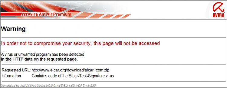 Test your anti-malware/anti-virus protection with EICAR