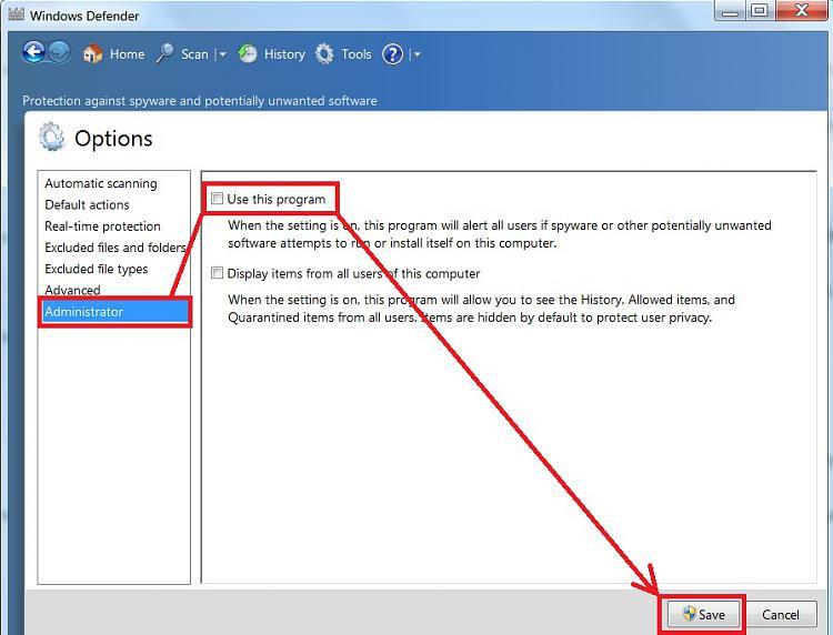 Windows 7 Home Premium: Please help...Programs Will Not Update-windows-defender-off-3.jpg