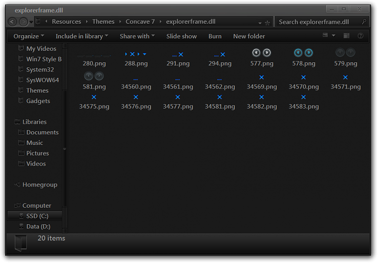 Creating own theme pack windows 7-explorerframe.dll.png