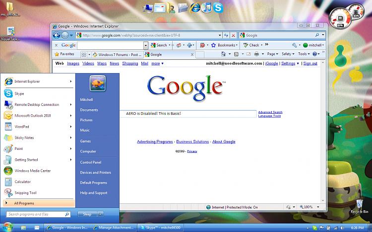 Project:  Windows Seven Basic Themes: Virtual Aero-windows7basiclooklikeaero.png