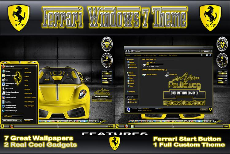 Ferrari Windows 7 Theme By Pauliewog-ferrari-poster.jpg