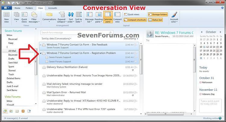 Windows Live Mail Messages - Conversation or List View-conversation_view.jpg
