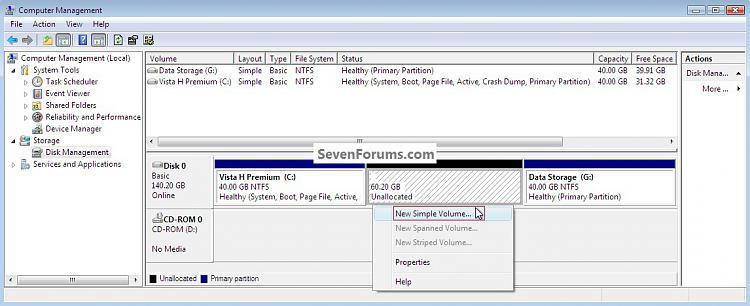 System Reserved : Create Using Disk Management-newsimplevolume.jpg