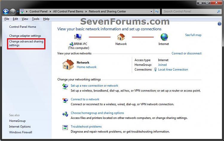 Media Streaming Using Windows Media Player - Turn On or Off-network_step1.jpg