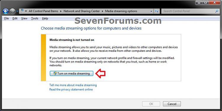Media Streaming Using Windows Media Player - Turn On or Off-network_step3.jpg