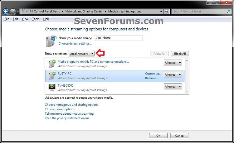 Media Streaming Using Windows Media Player - Turn On or Off-network_step4-.jpg