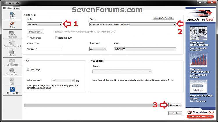 Slipstream Windows 7 SP1 into a Installation DVD or ISO File-step14-dvd.jpg