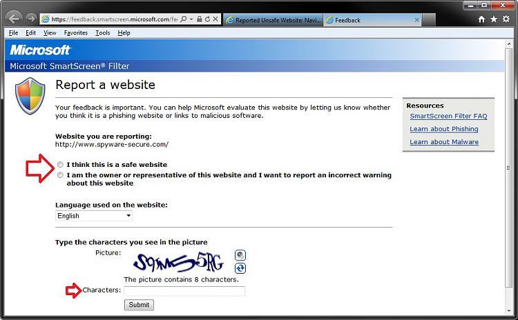 Internet Explorer SmartScreen Filter - Report Unsafe Website-report_safe.jpg